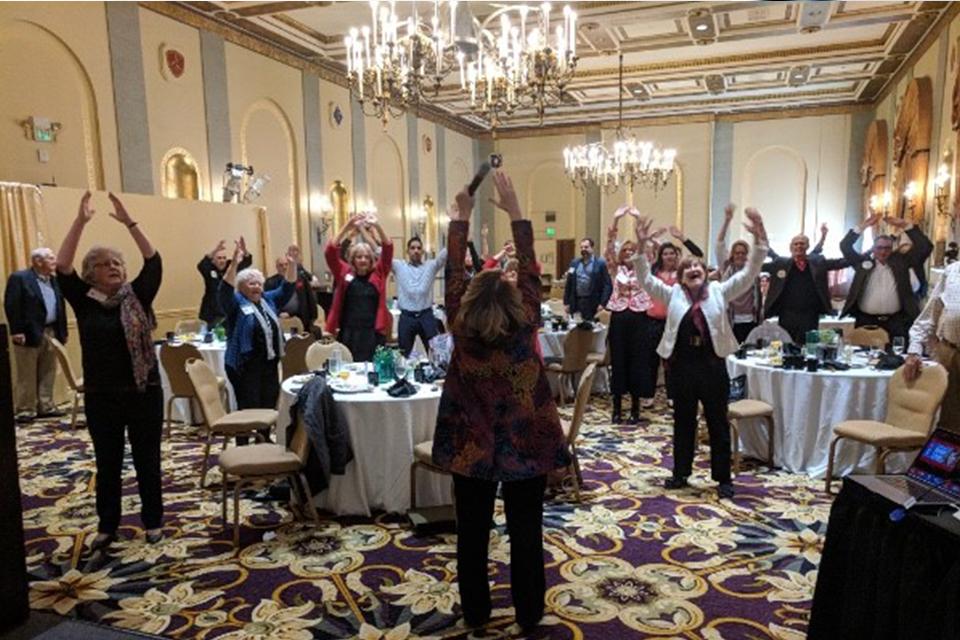 Janice Litvin Wellness Speaker engaging audience